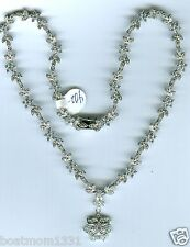 Stunning New 925 Sterling Silver Cubic Zirconia Floral Y Necklace~Perfect Gift!