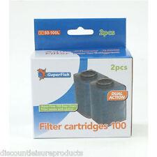 Super Fish Aqua Flow 100 Aquarium Filter Cartridges
