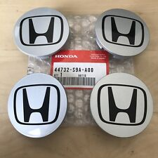 GENUINE HONDA CENTER CAP GREY BLACK H WHEEL CENTER OEM NEW 44732-S9A-A00 4-PIECE