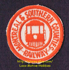 LMH PATCH Badge  MONTREAL SOUTHERN COUNTIES Railway  M&SC Streetcar Trolley Line