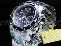 Invicta Men 48 MM Pro Diver Scuba Blue Dial Chronograph  S.S Bracelet Watch NEW
