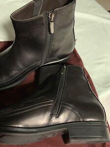 Men's BRUNO MAGLI BOOTS -PICCI BLACK Size 8M Side Zip
