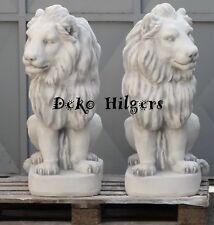 Löwe Figur Löwen 1 Paar Löwenfigur Tierfigur Deko Beton Gartenfigur Skulptur