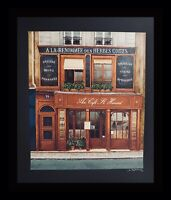 Andre Renoux Cafe St. Honore Hand Signed Serigraph ART