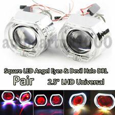 "2.5"" Headlight (Red) LED Angel Eyes & Devil Eye Bi-xenon Projectors LED HID Kit"