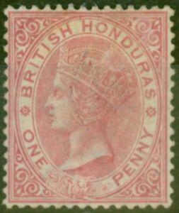 British Honduras 1884 1d Rose SG18 Fine Unused