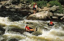 VTG POSTCARD FARMINGTON RIVER GORGE INNER TUBE FLOAT TUBING NEW HARTFORD CT A99