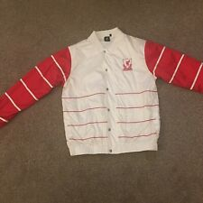 Liverpool Men's Jacket coat zipper Bomber LFC size Large White / Red Rare