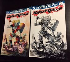 Harley Quinn #1 Rebirth Francis Manapul Exclusive Set of Colour & BW Variants