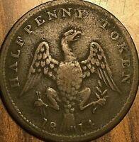 1814 LOWER CANADA SPREAD EAGLE HALF PENNY TOKEN