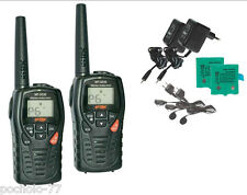 COPPIA DI WALKIE TALKIE INTEK MT3030 CON CUFFIE PMR446 12 KM DISTANZA