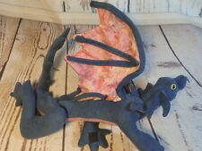 """Cosplay winged baby Shoulder dragon plush blue pink Hook and loop paws 22"""" wired"""