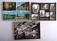 3x DDR Postkarte von Saalfeld Saale in Thüringen Ansichtskarten Lot ungelaufen