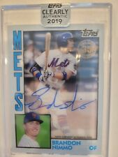2019 Topps Clearly Authentic BRANDON NIMMO Auto New York Mets