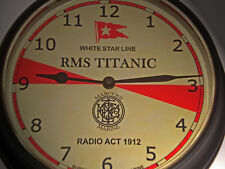 RMS Titanic, White Star Line, Marconi Radio Room Wall Clock, 1912 Radio Act.