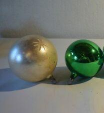 C25 2 anciennes boules de noël oud kerst boom versiering old christmas