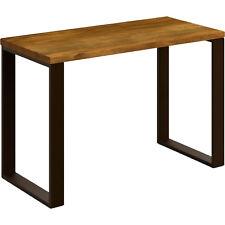 Hogar24-Mesa estudio escritorio de madera maciza natural y patas de acero