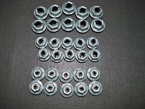 30pcs GM Buick 1/4 3/16 1/8 emblem name plate script thread cutting sealer nuts