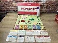 Monopoly Board Game Original Classic Red Box Edition  1984 Waddingtons