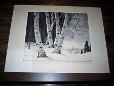 William MacLean Signed Limited Edition Original Etching Snow Valley