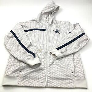 Reebok Dallas Cowboys Sweater Hoodie Size Large L Full Zip Long Sleeve Jacket