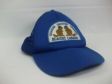 Beavers Canada Patch Youth Hat Vintage Blue Snapback Trucker Cap