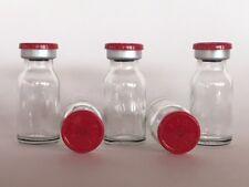 (100) Sealed Sterile 10mL Glass Vials FLIP TOP EZ OFF
