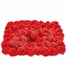 Красный искусственный цветок розы головки с стебли, 3 дюймов (примерно 7.62 см) искусственный цветок (60 шт.)