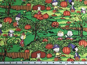 Halloween Pumpkins Peanuts Spooky Night Cotton Fabric - Sold by the half-yard