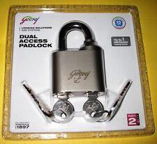 Godrej Locks Dual Access Padlock front door shop shutter heavy master slave keys