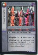 Lord Of The Rings Foil CCG Card RotK 7.U123 Support Of The City