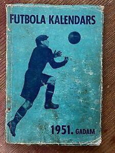 Antique Soviet-Latvian soccer calendar-booklet from 1951
