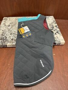 """NWT Ruffwear Stumptown Quilted Insulated Jacket Size Small 22-27"""" Twilight Gray"""