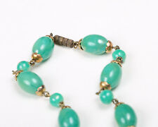 Vintage 1940s Green Bead Necklace