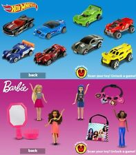 2017 MCDONALD'S BARBIE & HOT WHEELS SETS - FREE PRIORITY SHIPPING - ON HAND
