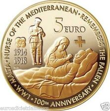 Pièce 5 euros commémorative MALTE 2014 - Centenaire de la 1ère Guerre Mondiale
