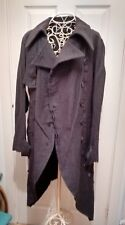 Lagenlook Art to Wear Rundholz Grey Gothic Tail Coat Medium BNWT £599 Rare
