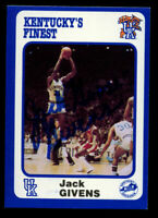 Jack Goose Givens #186 signed autograph 1988 Kentucky's Finest Collegiate Card