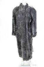Furs By A.B.D. Lichtenstein Womens Broadtail Fur Long Coast Gray Size Medium