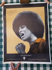 I Am A Black Woman Original 1971 Poster by The NY Committee to Free Angela Davis