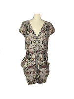 City Chic Plus Size Womens Size XS Shift Dress With Front Pockets Zip Up Front