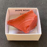 JASPE ROJO  Red Jasper - Brasil BRAZIL MINERAL COLECCION CAJA CAJITA 4x4cms N216