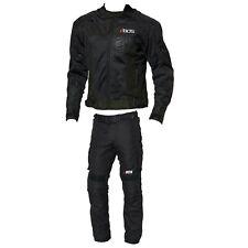 Motorrad Textil Jacke und Hose Herren Motorrad Touring Kombi Schwarz Gr S-5XL