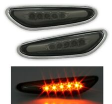 LED SEITENBLINKER SET in SMOKE für 3er BMW E46 + 5er E60 + X3 E83 BLINKER MCP