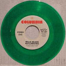Willie Nelson WHITE CHRISTMAS / BLUE CHRISTMAS; 1979 Columbia Green Vinyl; DEMO