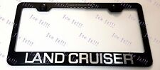 LAND CRUISER Stainless Steel Black License Plate Frame Rust Free W/ Caps