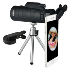 50X60 Zoom Optical Lens Monocular Telescope + Clip + Tripod For Mobile Phone