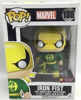 Funko Pop Marvel 188 Iron Fist PX Previews Green Exclusive Vinyl Bobble-Head