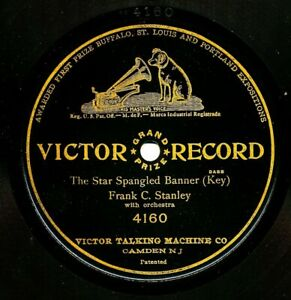FRANK C STANLEY 1-sided 1908 Victor Grand Prize 4160 - The Star Spangled Banner