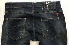 Brand New Saint Laurent Mens Dark Blue Jeans Size 38